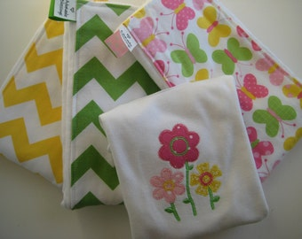 Baby Girl Gift Set Chevron, Butterflies and Flowers