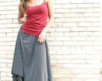 Organic Cotton & Bamboo Long Wrap Skirt
