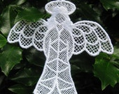 Christmas  Angel  /  Embroidered Lace