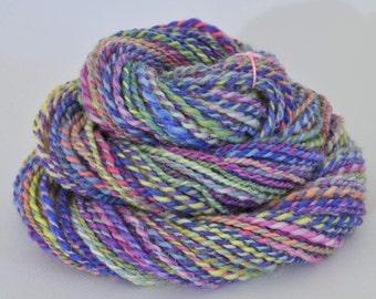 Handspun Yarn - Rainbow Yarn - Shropshire  -  1.9 oz, 72 yd, WPI 10