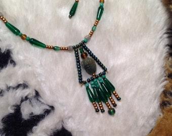Pyramid Scarab Necklace