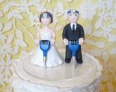 Jackhammer dentist sample wedding cake topper
