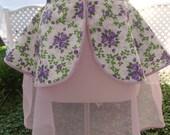 Vintage Purple Floral Reversible Apron