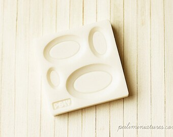 Dollhouse Miniature 1/12 Scale Oval Plate Mold