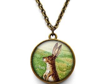 Vintage Hare Necklace (ER08)