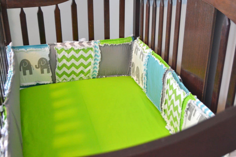elephant crib bumpers baby boy elephant crib bumper pads. Black Bedroom Furniture Sets. Home Design Ideas