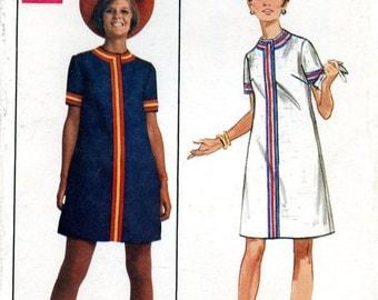 Butterick 5178 Young Designer A Line Dress Australia Prue Acton Size Size 16 Bust 38 Uncut Vintage Sewing Pattern 1960s