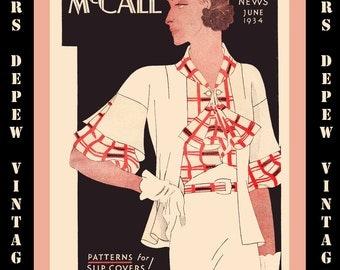 Vintage Pattern Catalog Booklet McCall Style News June 1934 Digital Copy -INSTANT DOWNLOAD-