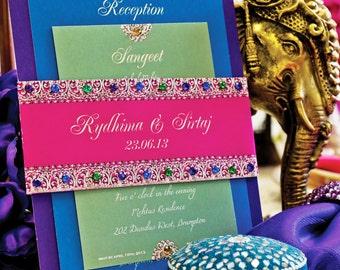 Bejeweled Indian Wedding Invitation Suite-SAMPLE