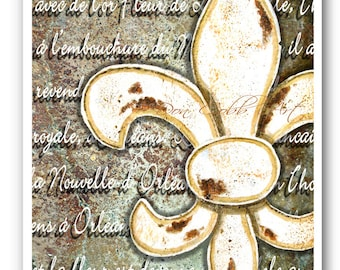 "Fleur de Lis Orleans 13x19"" Art Print Signed and Numbered"
