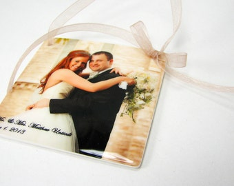 Personalize Holiday Photo Ornament - One-sided - OOS