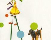 Dog Days, 5 x 7 card