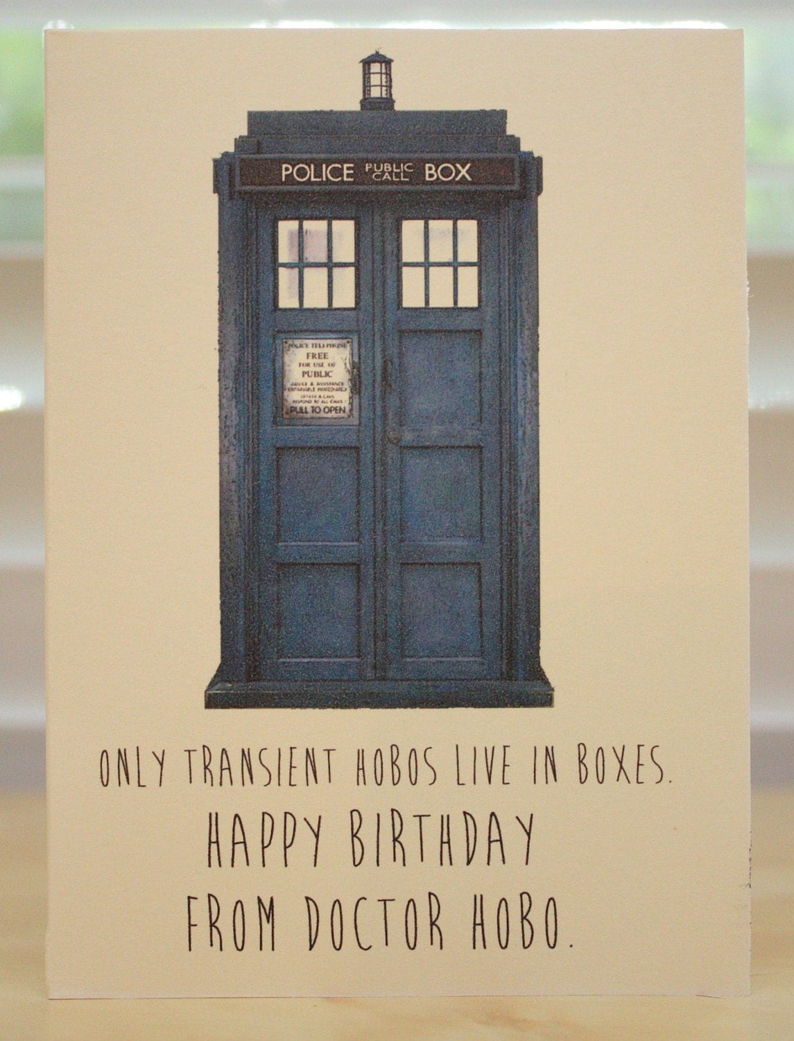 Doctor Who Birthday card Tardis Dr Who geeky party – Dr Who Birthday Card