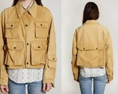RESERVED 1950s Canvas Jacket . Sport or Fishing Coat