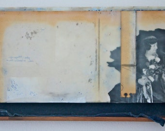 One Of These Women Is Not My Mother - Original Mixed Media Encaustic