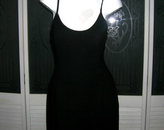Vintage Rex Lester Couture Evening Gown New Years Eve Little Black Dress