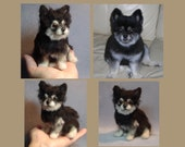 Custom Pet Portrait dog sculpture needle felted from your photographs