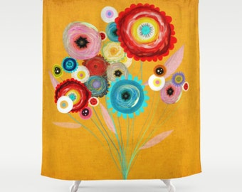 Shower Curtain - Rupydetequila Floral Art