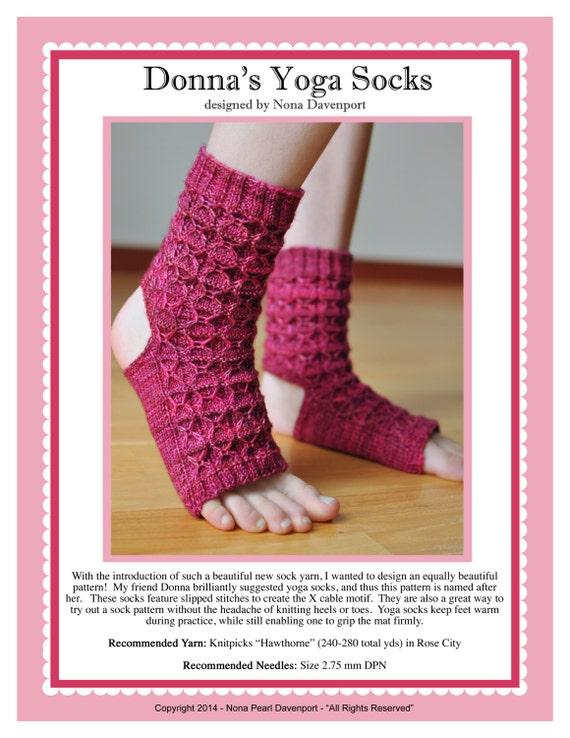 Knitting Patterns For Yoga : Donnas Yoga Socks Knitting Pattern PDF