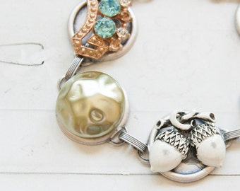 Fairytale -  bracelet with vintage treasures
