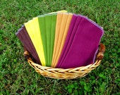 20 Autumn Harvest Napkins - Thanksgiving Decorations - Fall Napkins - Reusable Paper Towels - Olive Gold Primitive Napkins - 10 x 12