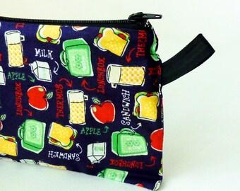 Reusable Sandwich or Snack Bag - Wet Bag - School Lunch - Waterproof Zipper Bag - Food Storage Bag - Snack Pouch - Fabric Sandwich Bag