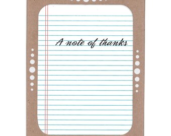 A Note of Thanks -- Boxed Set of Six Thank You Cards