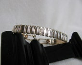Sterling Silver, 14K Yellow and Rose Gold Filled Wire Bracelet RKS386
