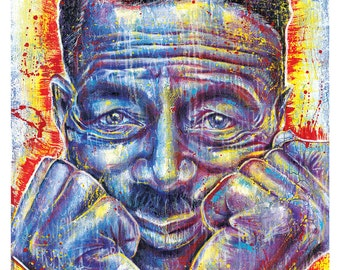 """12 x 18"""" High Quality Art Print Poster - Son House - Grinnin' in Your Face - music blues"""