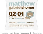 Birth announcement new baby gift jungle lion throw pillow