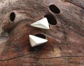 Triangle dainty Earrings Geometric Earrings Tiny Pyramid Studs Triangle Studs sterling silver Minimalist Earrings Modern Jewelry