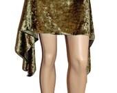 Green Asymmetrical Belly Dance Fairy Skirt Handmade