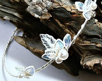 Crystal Winter Wedding Halo Princess Tiara Silver Halo Romantic Wedding Head piece Bridal Halo Flower Girl Bridesmaid Quinceanera Tiara