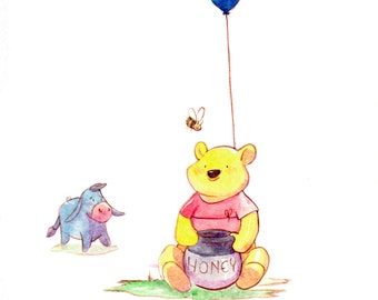 Winnie the Pooh Original Watercolor