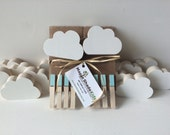 Cloud Art Display Cable, Aqua Blue Clips, eco friendly