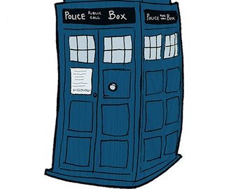 Doctor Who Sticker - TARDIS