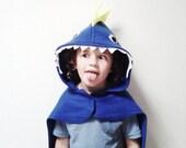Blue Dinosaur Cape, Kids Halloween Costume or Dress Up Cape