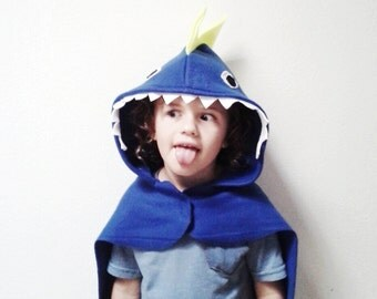 Blue Dinosaur Cape, Kids Halloween Costume or Dress Up Cape