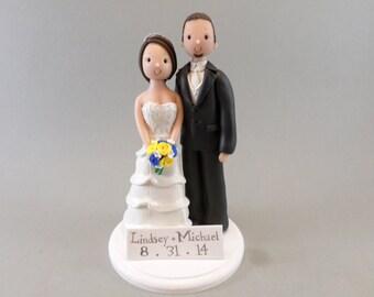 Bride & Groom Custom Made Wedding Cake Topper