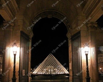 The Louvre Museum at Night Paris, France Original Fine Art Photography Print