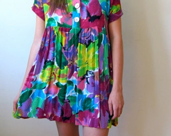 Floral Baby Doll 90's Dress