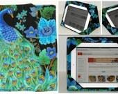 iPad Cover Hardcover, iPad Case, iPad Air Case, iPad Air Sleeve, iPad 2, iPad 4, Peacock