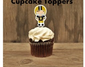 Football Party - Set of 12 Assorted Football Player Cupcake Toppers by The Birthday House