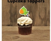 Pirate Boy Party - Set of 12 Parrot Cupcake Toppers by The Birthday House