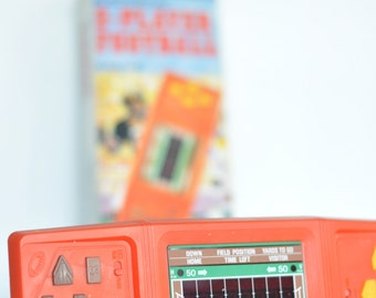 1981 Vintage Tandy 2-Player Football handheld game made for Radio Shack sports video game RARE