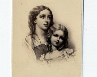 1860s - 1870s Antique CDV. Cute Sisters, No. 2