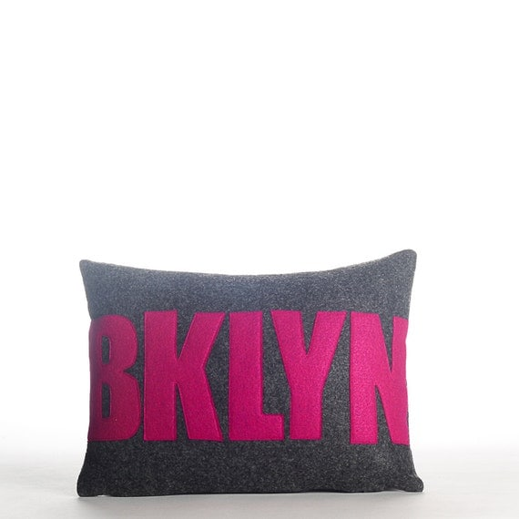 Decorative Pillow Throw Pillow BKLYN pillow