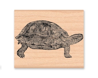 TURTLE Rubber Stamp~Large Turtle Stamp~Sea Turtle~wood mounted rubber stamp (39-10)