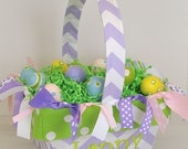 Easter Basket Monogrammed Easter Basket Girls Personalized Easter Basket with Fabric Easter Gift Monogrammed Gifts