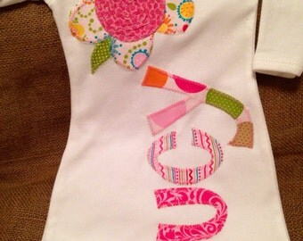 Personalized infant baby girl gown